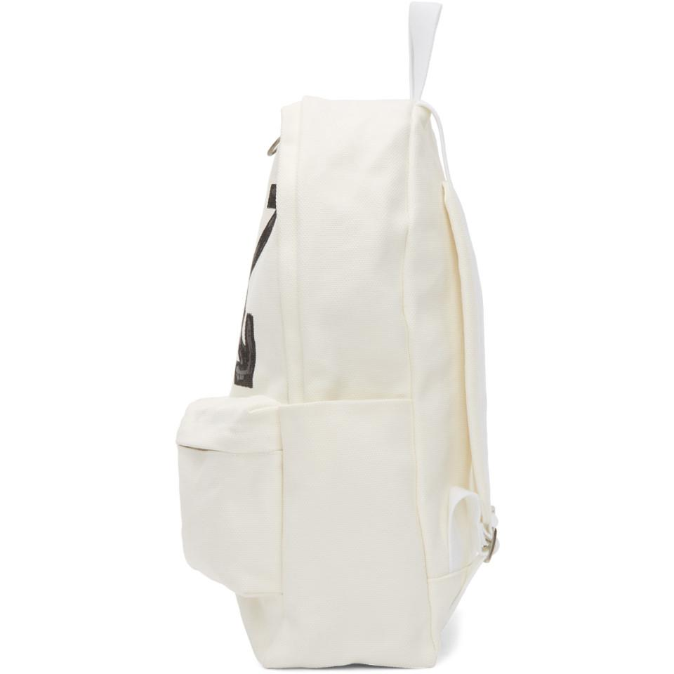 51ad1ce12a8b3 Lyst - Off-White c o Virgil Abloh White Brushed Arrows Backpack in ...