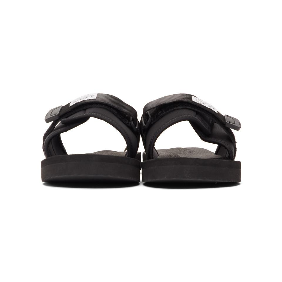 5c4daa51a2a2 Suicoke Black Padri Sandals in Black for Men - Save 4% - Lyst