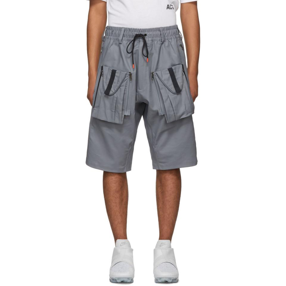 2b9d09a24713c Nike Grey Acg Deploy Shorts in Gray for Men - Lyst