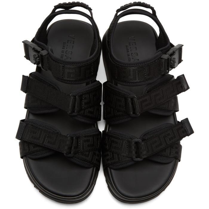 2ceebf103bee59 Lyst - Versace Black Hiking Sandals in Black for Men
