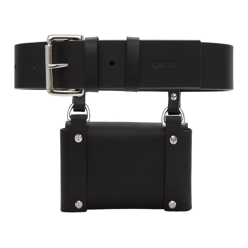Black Side Pouch Pocket Belt Fleet Ilya nXCUwP3pst