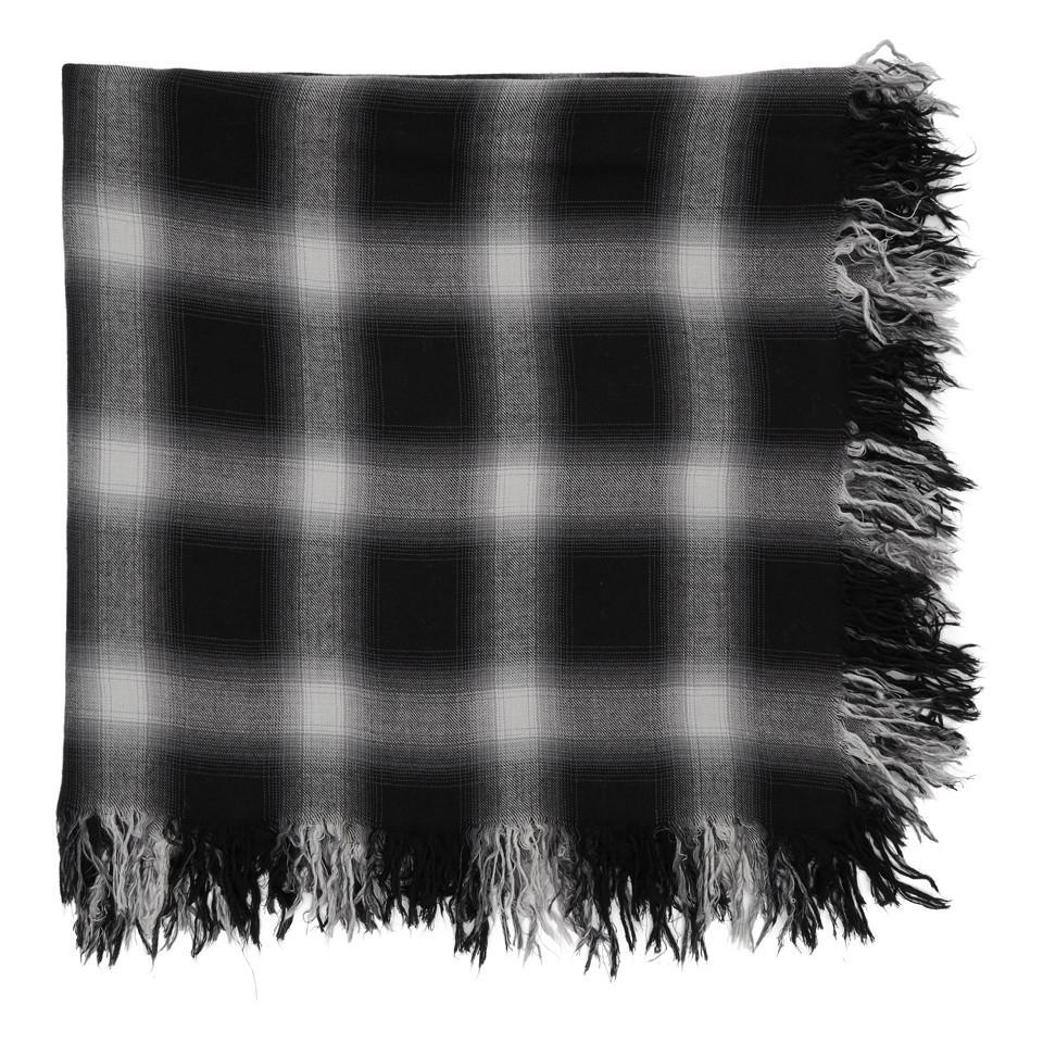 Lyst - Foulard a carreaux noir et blanc Attachment pour homme en ... aa07bf57b85