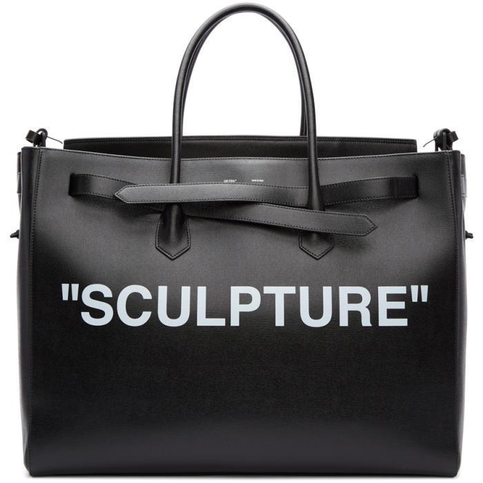 e669c3350 Off-White c/o Virgil Abloh Black Xl 'sculpture' Cut Flap Tote in ...