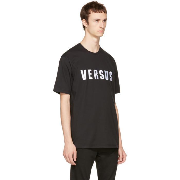 Black Embroidered Logo T-Shirt Versus Newest Enjoy Cheap Price 58nrHov5HN