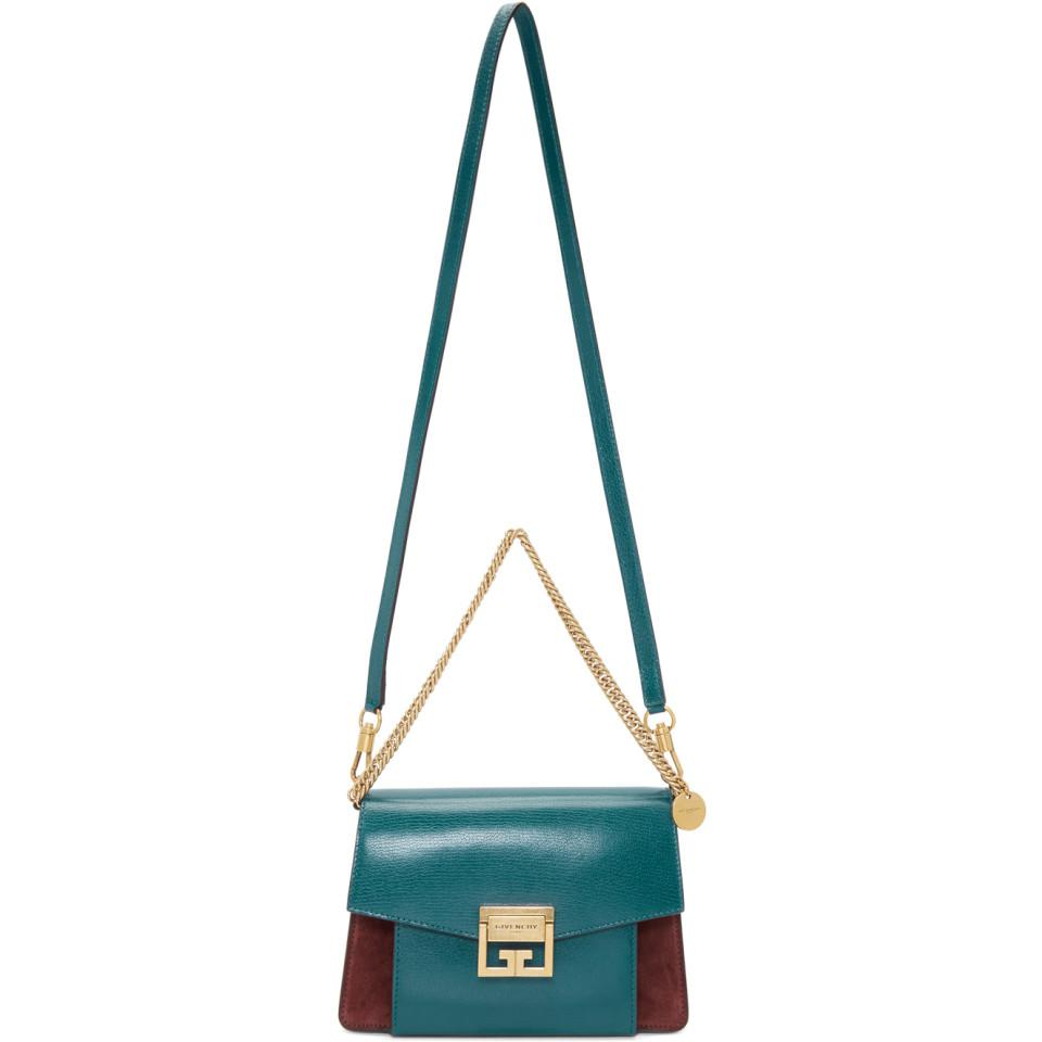 a4b83770787b Lyst - Givenchy Blue And Burgundy Small Gv3 Bag in Blue