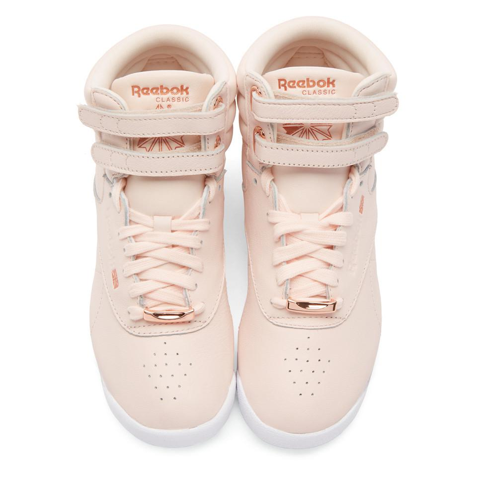 d14c120efd1777 Reebok Pink Freestyle High Muted Sneakers in Pink - Lyst