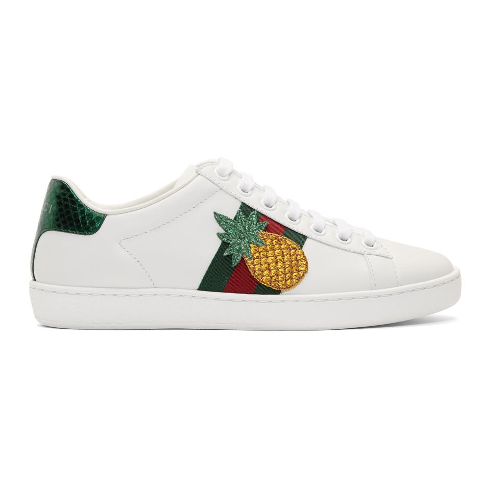 3e5ac3d857c Lyst - Gucci Pineapple   Ladybug Ace Sneakers in White