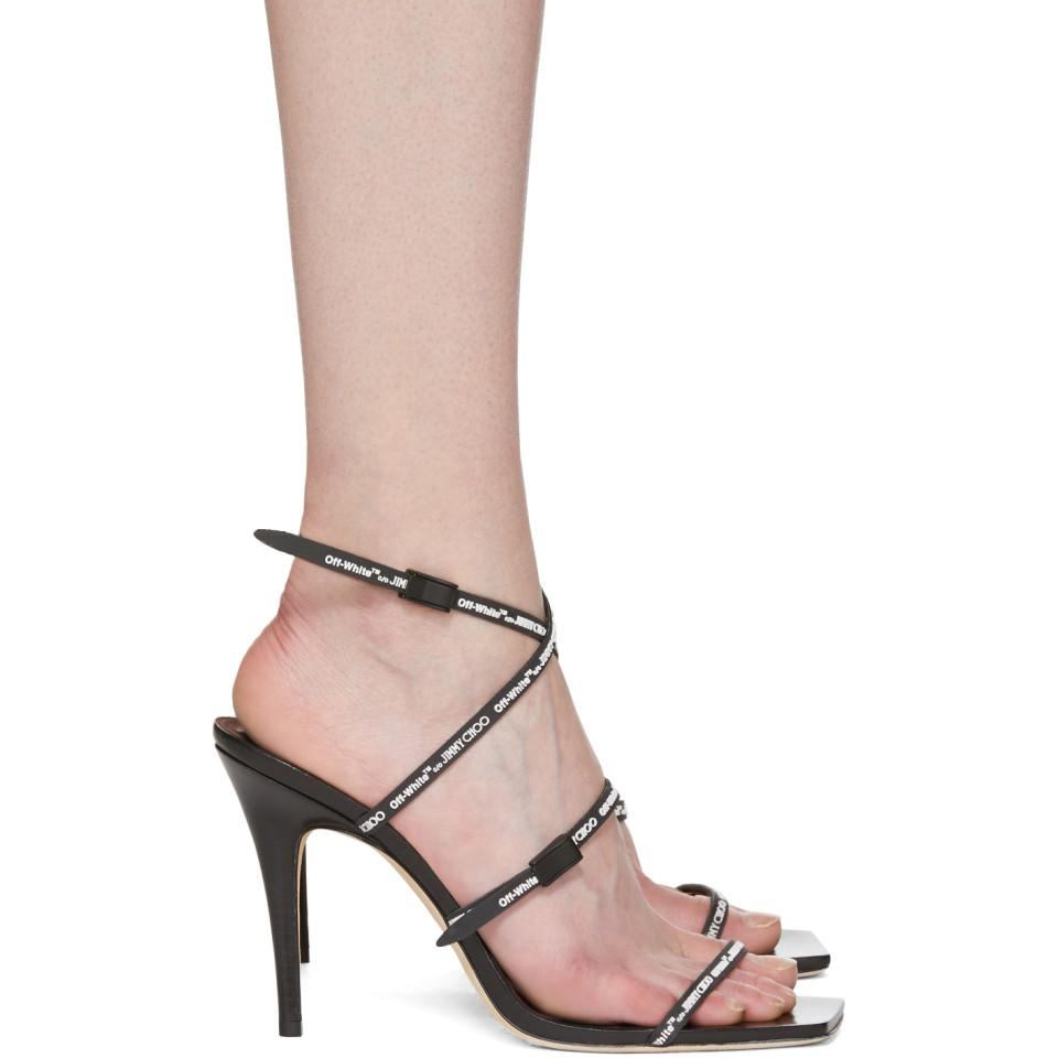 645cffe979 Off-White c/o Virgil Abloh Black Jimmy Choo Edition Jane Sandals in ...