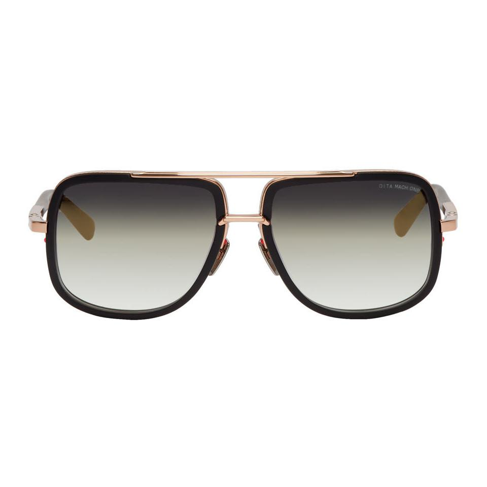 f4222f03a5ec Dita Black And Gold Mach-one Sunglasses in Black for Men - Lyst