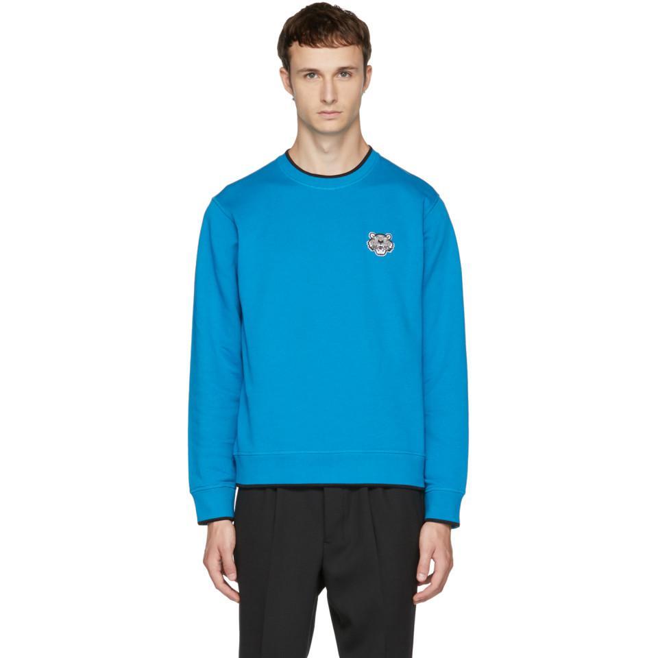 Lyst - Pull molletonne bleu Tiger Crest KENZO pour homme en coloris Bleu a93db62565d