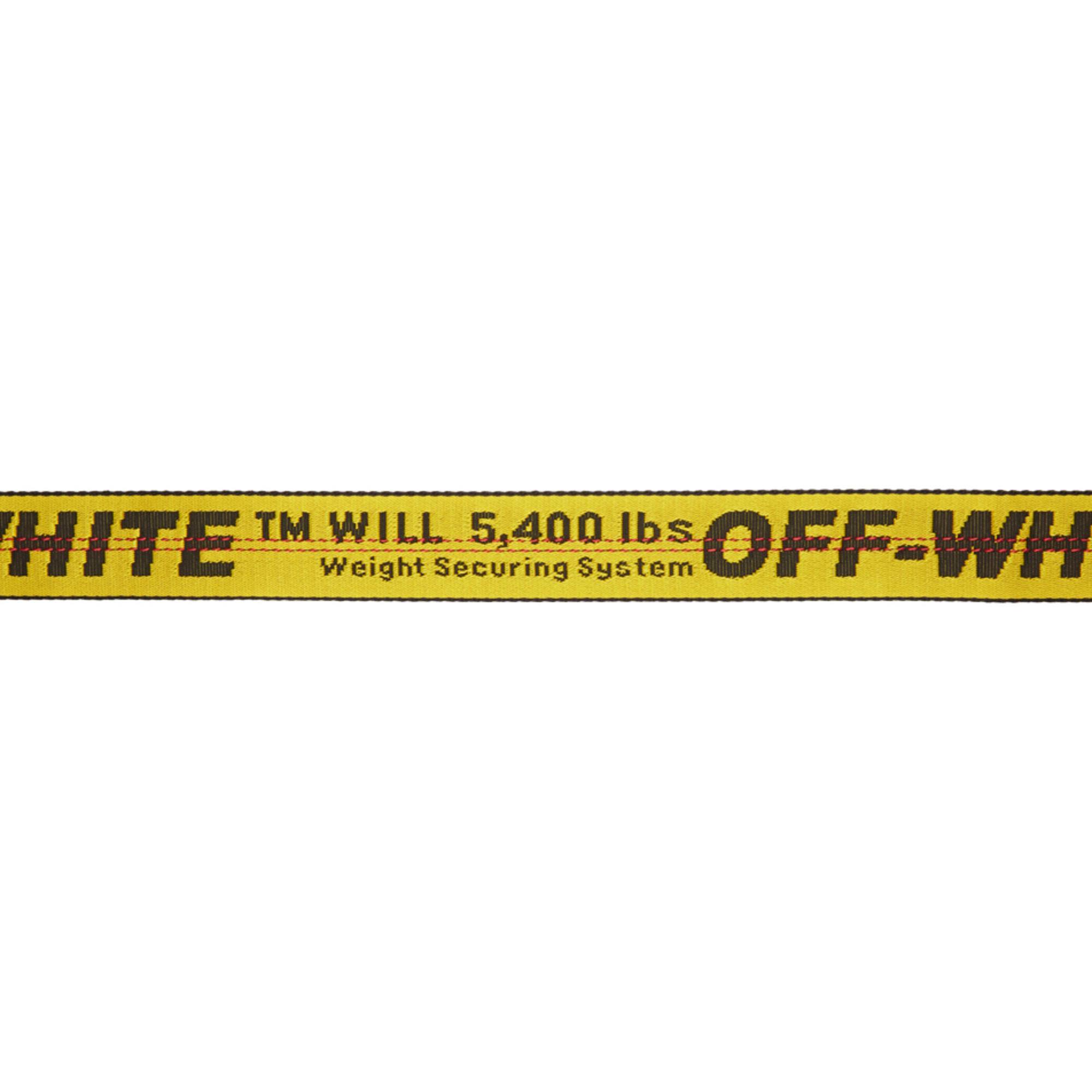 Lyst - Ceinture jaune Industrial exclusive à SSENSE Off-White c o ... 6c0e97599ed