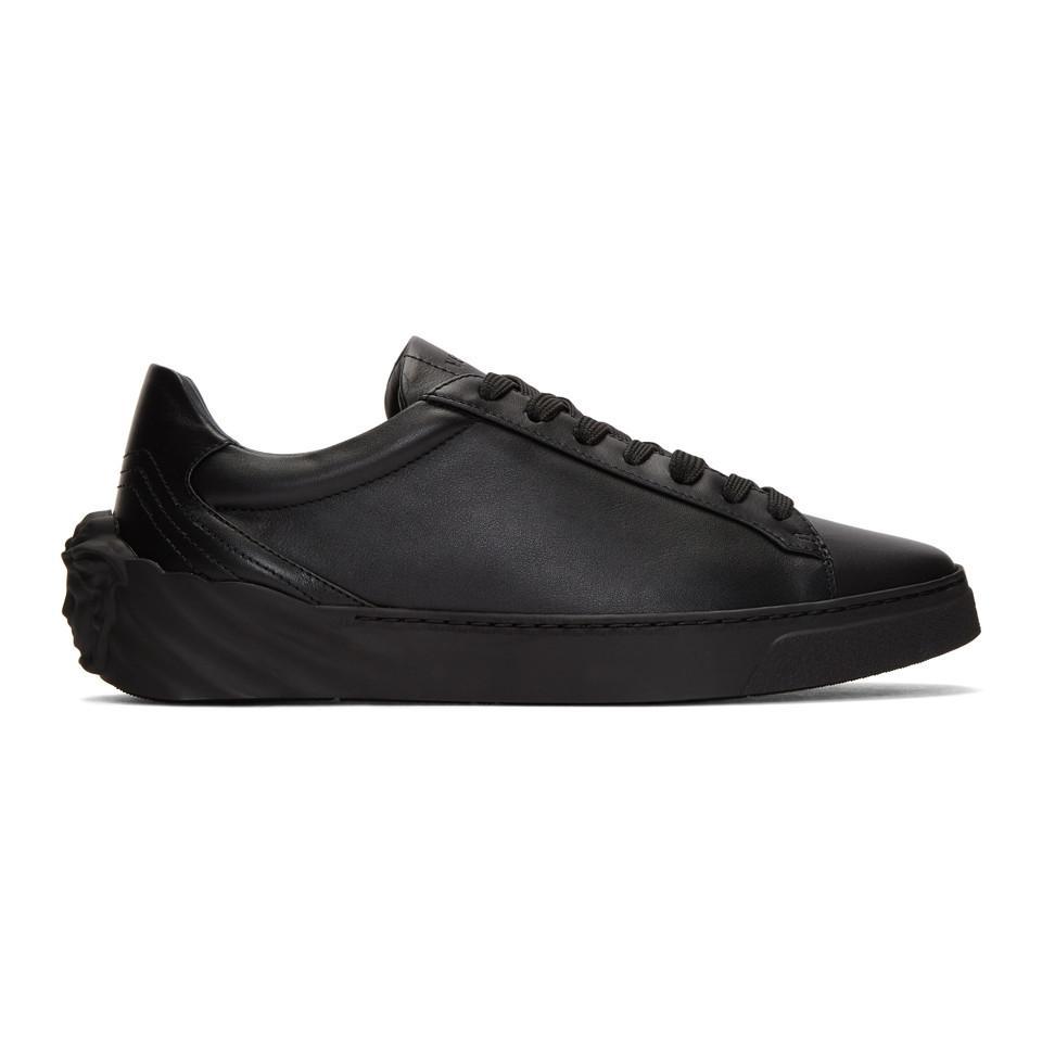 Versace Black Back Medusa Head Sneakers A16a2dJt