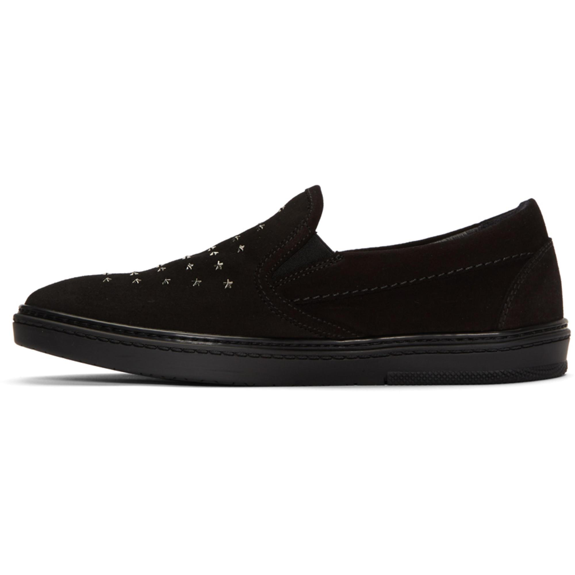 Jimmy Choo Black Suede Grove Mini Star Sneakers exL3J438f