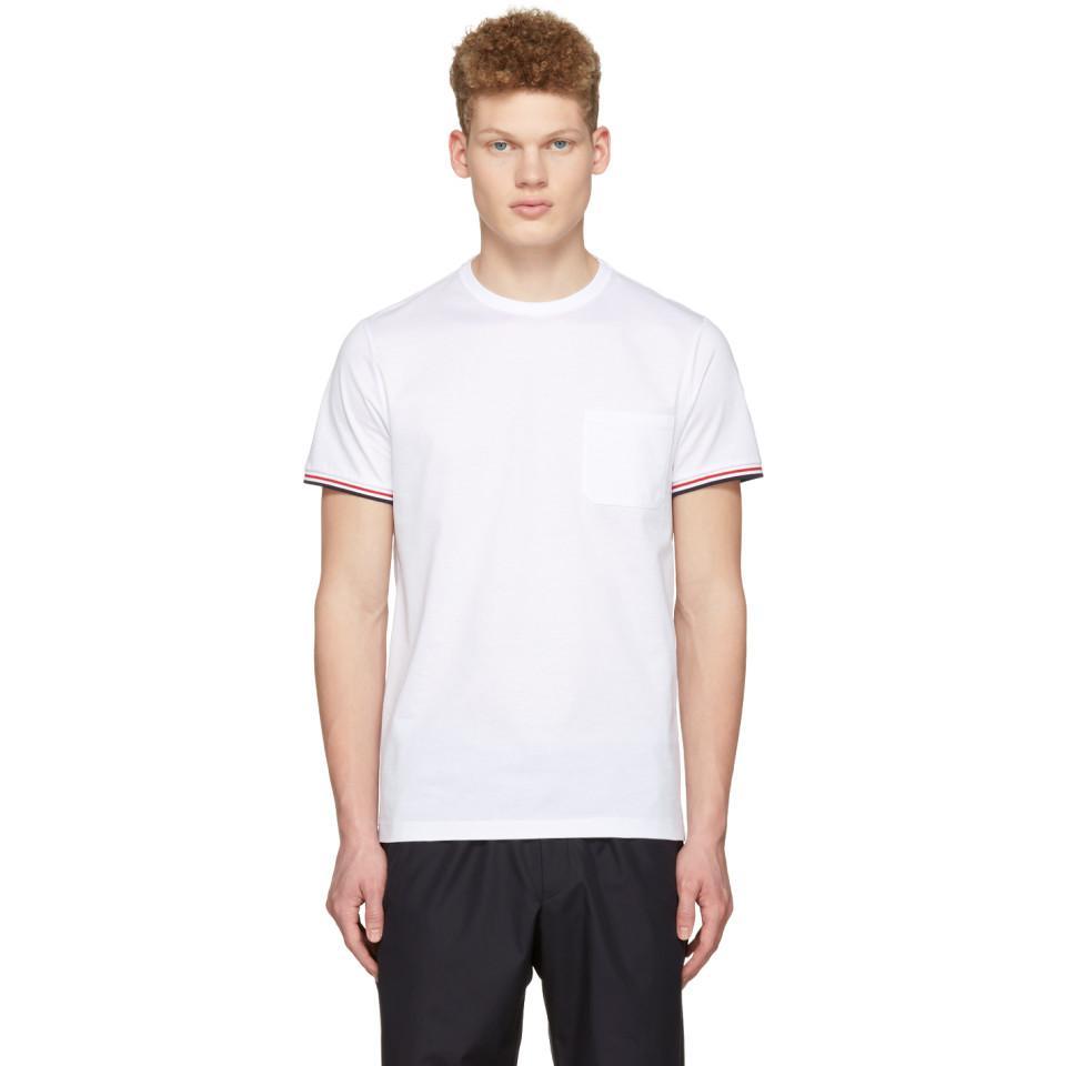 7506bd6c7 Moncler White Maglia Pocket T-shirt in White for Men - Lyst