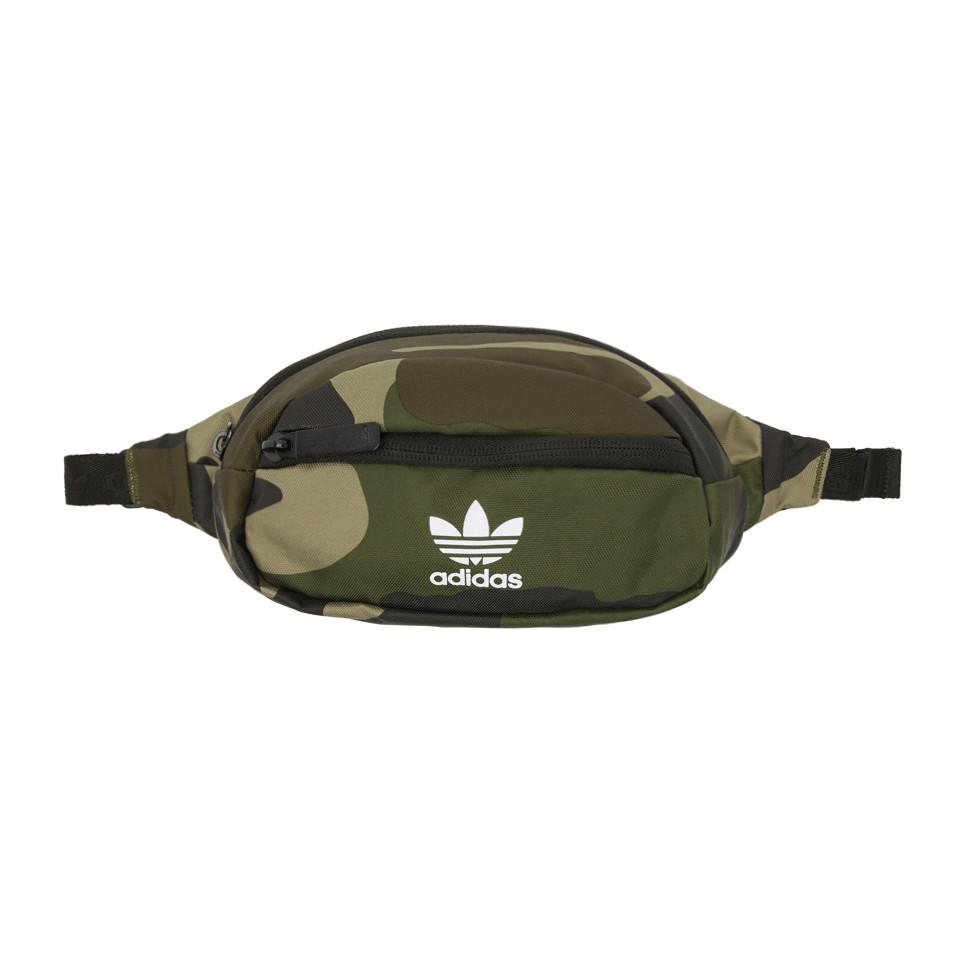 72261a7e2691 Lyst - Adidas Originals Green And Brown Camo National Waist Pouch in ...