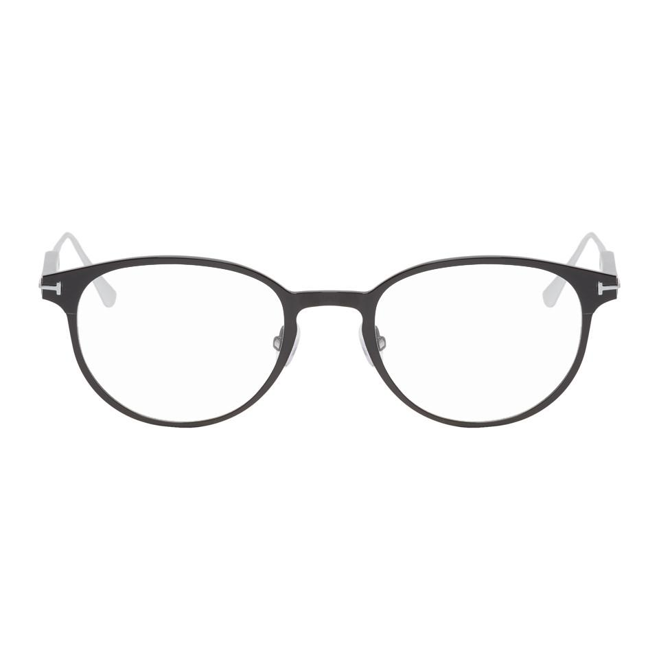 9bc3afe3a6 Tom Ford Black And Silver Tf-5482 Glasses for Men - Lyst