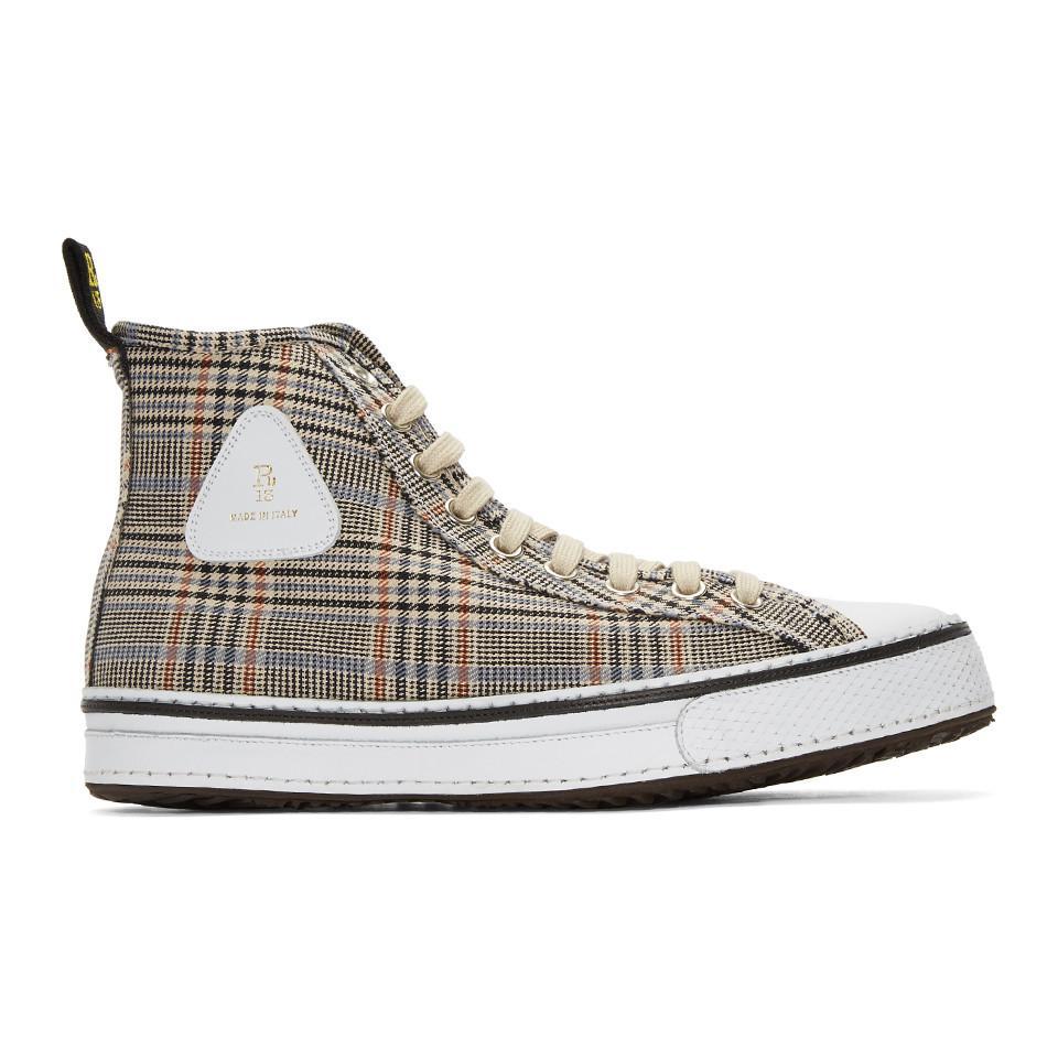 R13 Plaid Twill Sneakers NXoeuzr