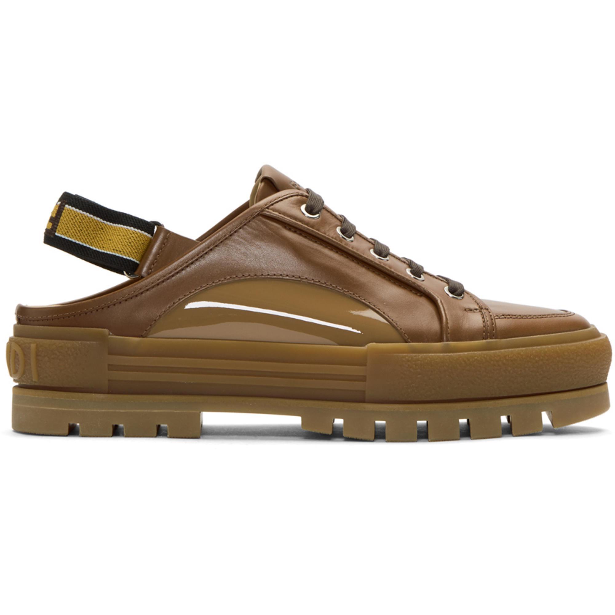 0fevGlPWTc Brown Forever Fendi Slingback Sneakers fj5FlIOy