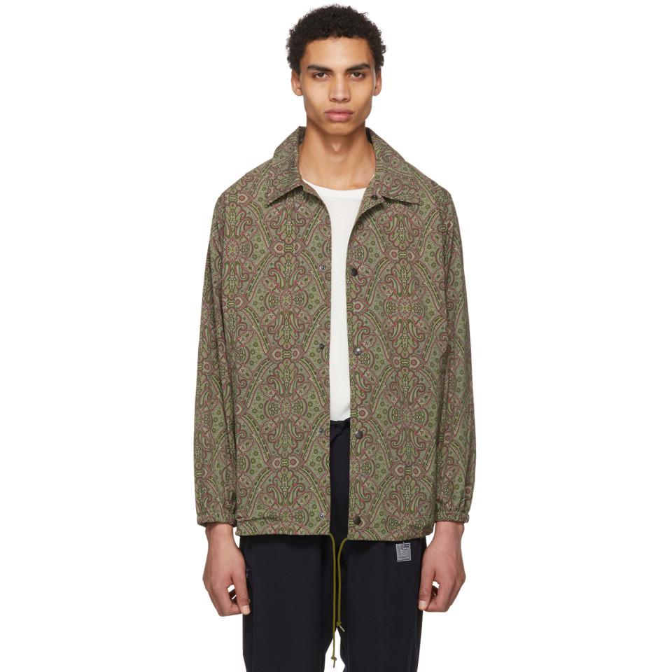 patterned shirt jacket - Green Needles Reliable Very Cheap Price Free Shipping Footaction Dq1mL9ru