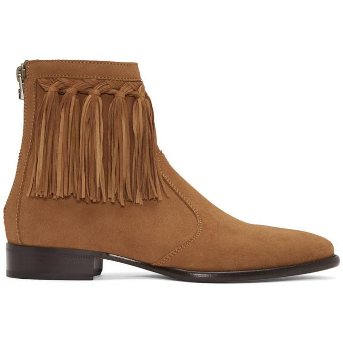 ecf1abf5f0bd Lyst - Jimmy Choo Tan Suede Eric Boots in Brown for Men
