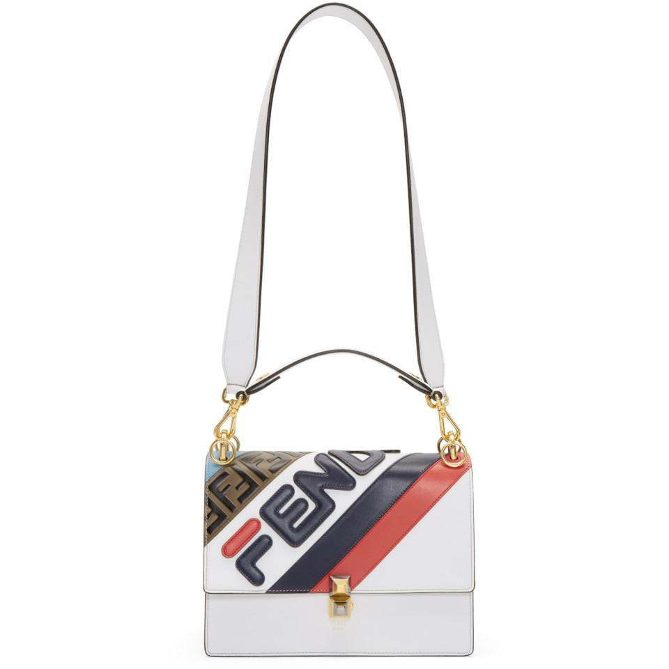 69f059c62d0e Fendi White Mania Kan I Bag in White - Save 13% - Lyst