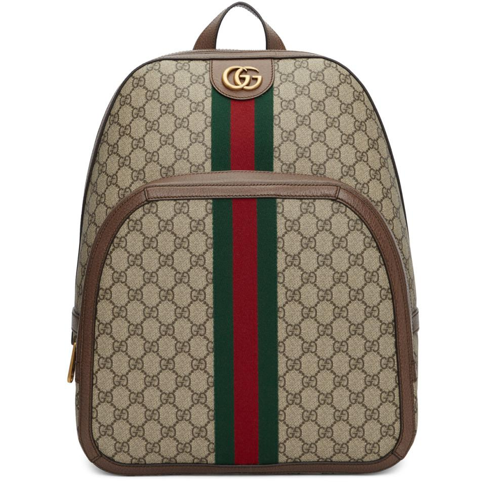 2ae4cfedf91 Gucci Beige Medium GG Ophidia Backpack in Natural for Men - Lyst