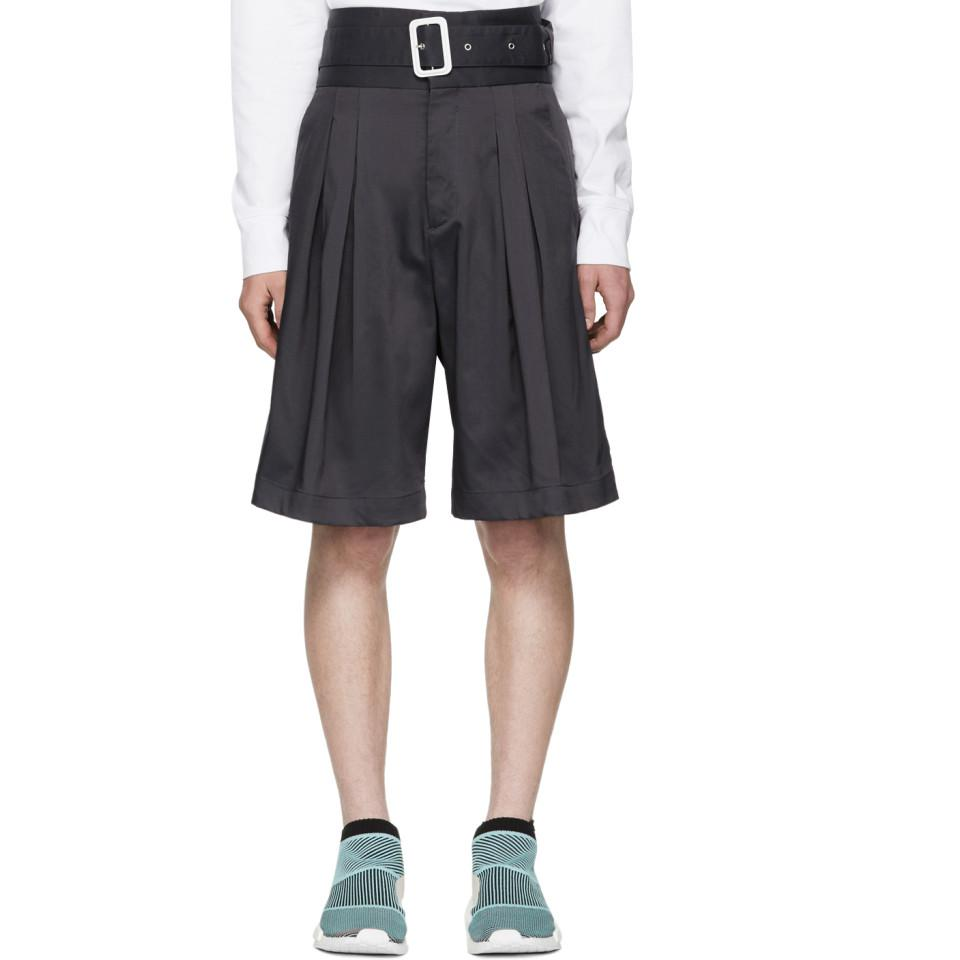 c633f6104e KENZO Grey 80s Shorts in Gray for Men - Lyst