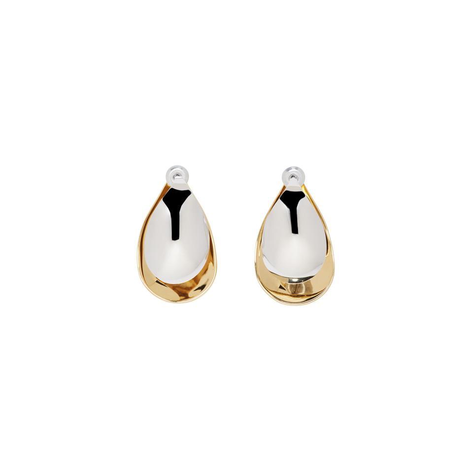 Charlotte Chesnais Gold and Silver Mini Petal Earrings t7VFV