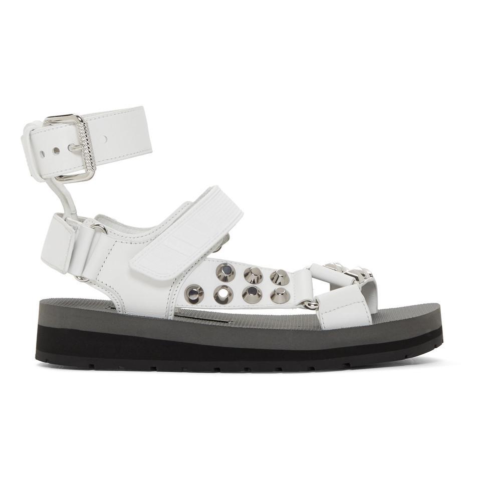 Prada Studded Velcro Sandals iOQifmt