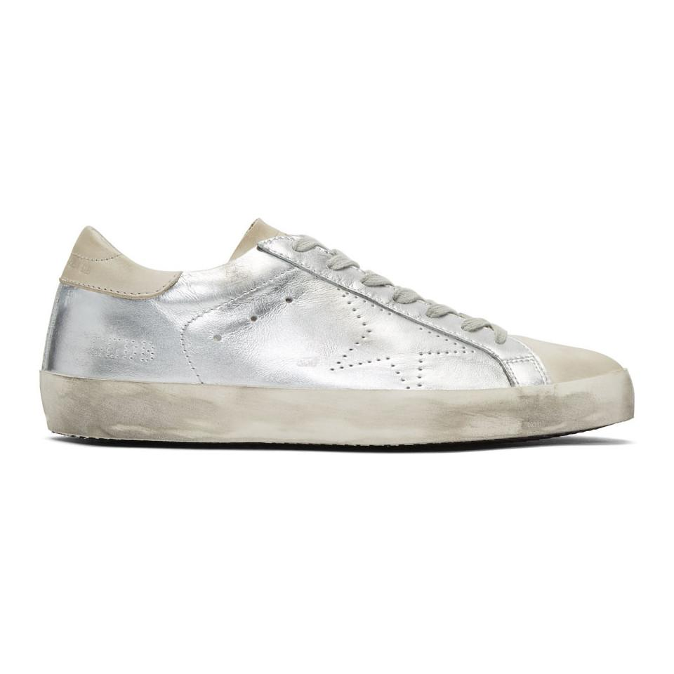 Golden Goose & Grey Skate Superstar Sneakers