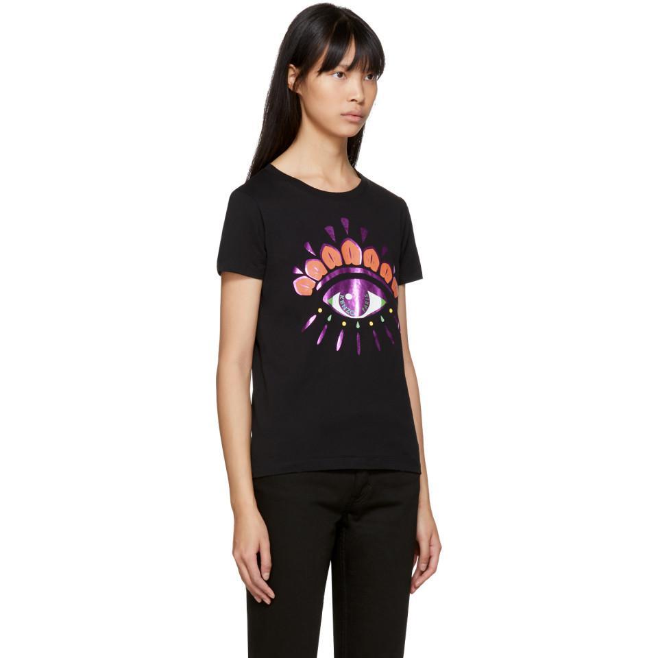 1d71ecb8 KENZO Black Limited Edition Holiday Eye T-shirt in Black - Lyst