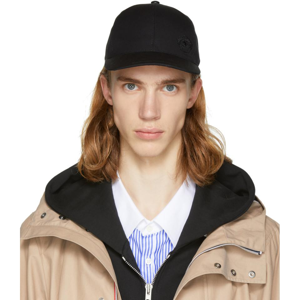 127e4caa54c ... Burberry Black Logo Crest Cap in Black for Men - Lyst online store  ce53c d053f ...