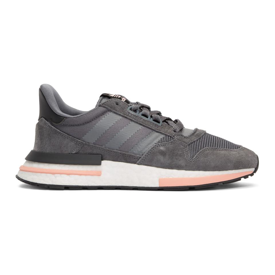 391672cfa64c adidas Originals Grey And Pink Zx 500 Rm Sneakers in Gray for Men - Lyst