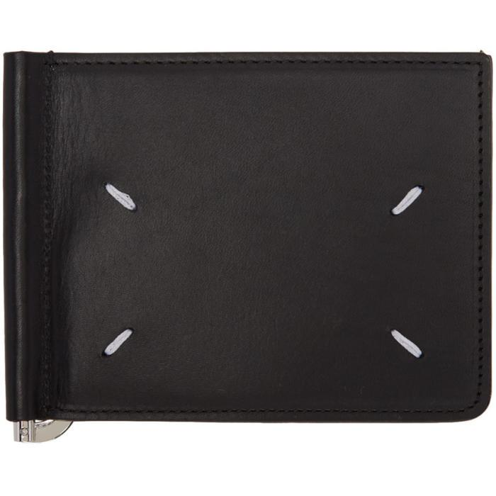 106c12ad21b4 Maison Margiela Black & Beige Trifold Wallet in Black for Men - Lyst