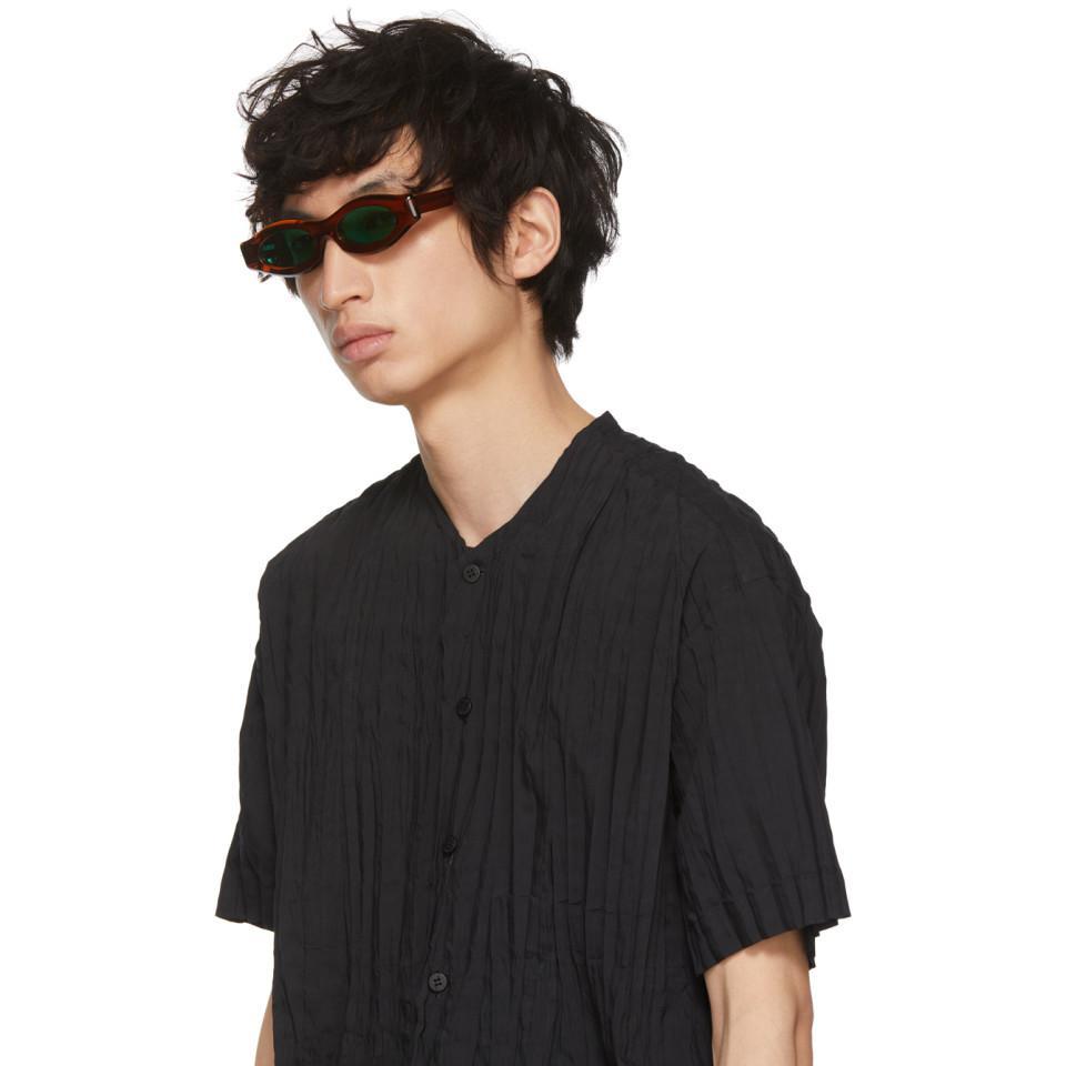 1cb7f28ef03 Lyst - Kuboraum Brown Y5 Cop Sunglasses in Brown for Men