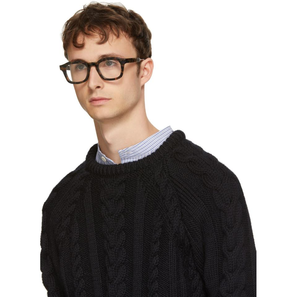 ac1830fa83d7 Thom Browne Tortoiseshell Tb-412 Glasses for Men - Lyst