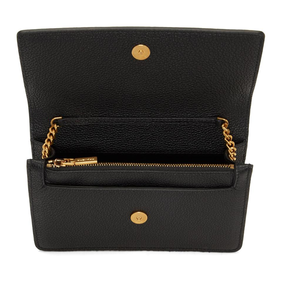 0100f81325 Lyst - Versace Black Small Palazzo Evening Bag in Black - Save 38%