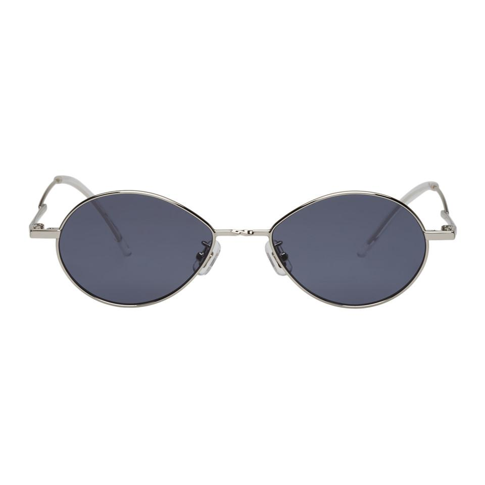 d727a8e507a Gentle Monster Silver And Grey Cobalt Sunglasses in Gray - Lyst