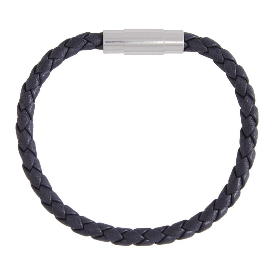 Lyst - Boss Navy Braided Single Wrap Blaine Bracelet in Blue for Men e0963e0848