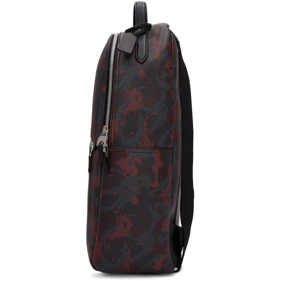 Burlington For Smythson Camo Black Oxblood Backpack Red Lyst Men In g0tw07