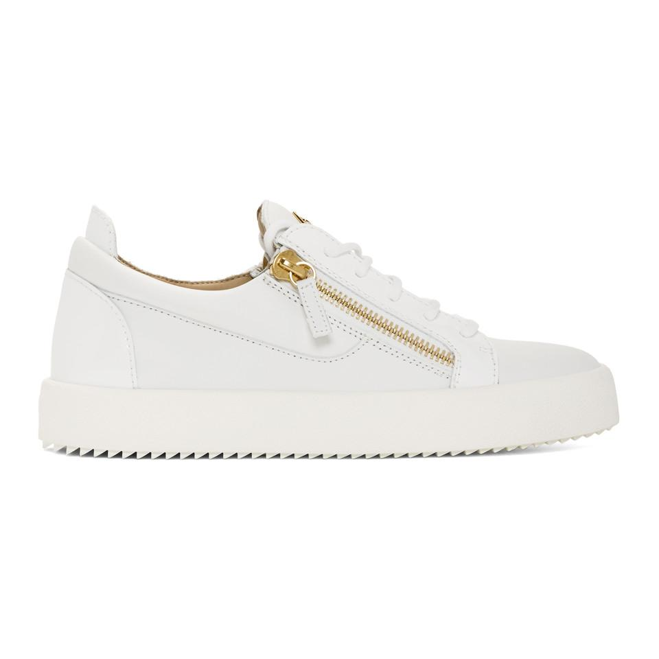 2c2dee0c314df Lyst - Giuseppe Zanotti White May London Frankie Sneakers in White ...