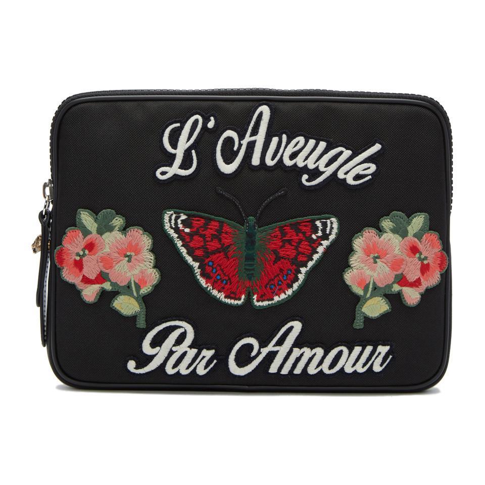Black LAveugle Par Amour Pouch Gucci Y54Jp