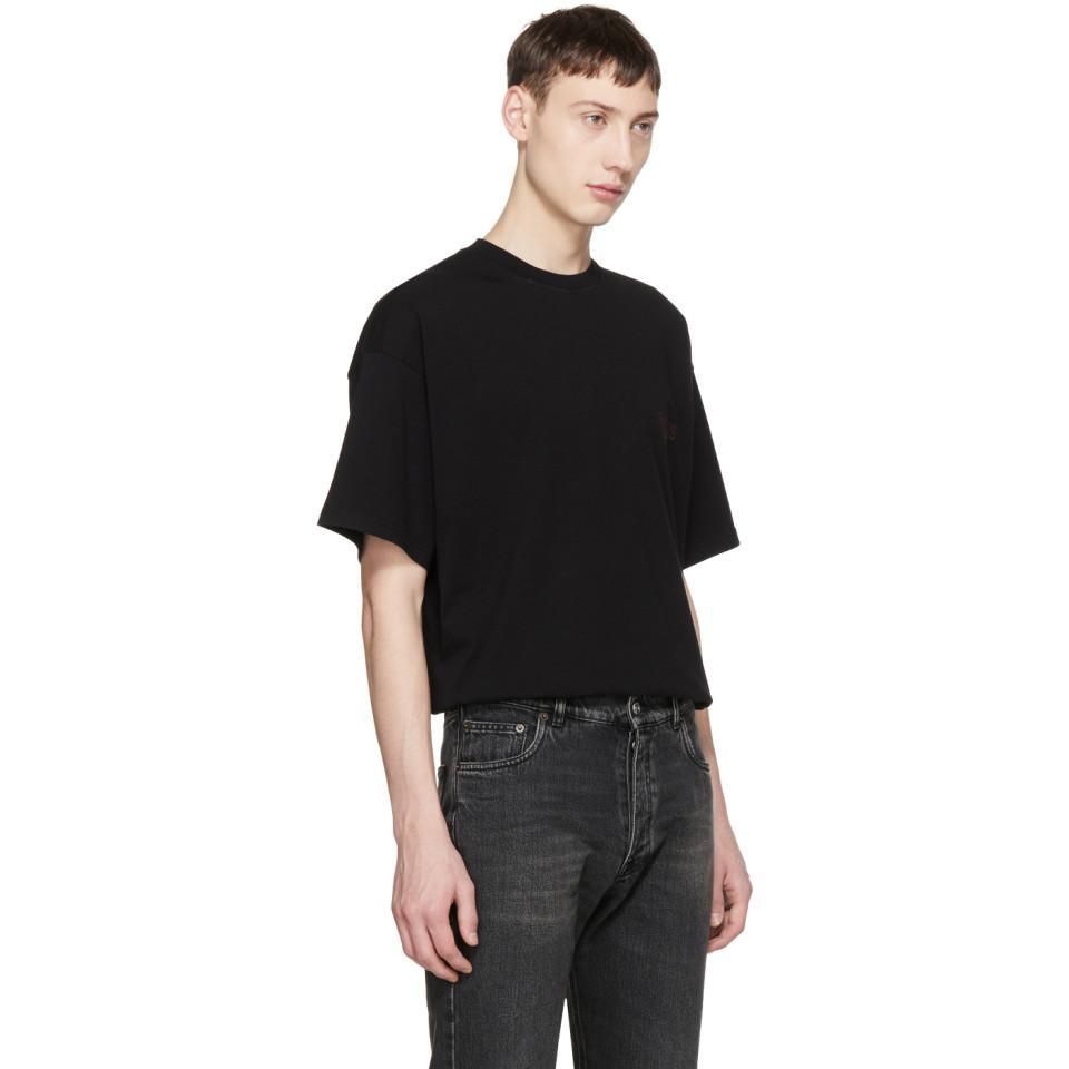 37514a450a1e Balenciaga Black Oversized Sinners T-shirt in Black for Men - Lyst