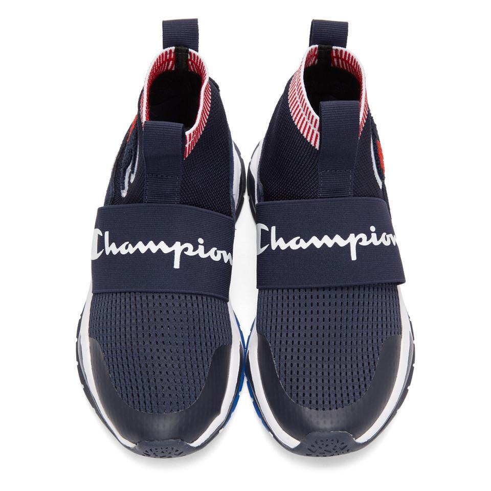 0a2067659 Champion rally pro sock knit sneaker in blue lyst jpg 960x960 Champion  rally pro shoes sock
