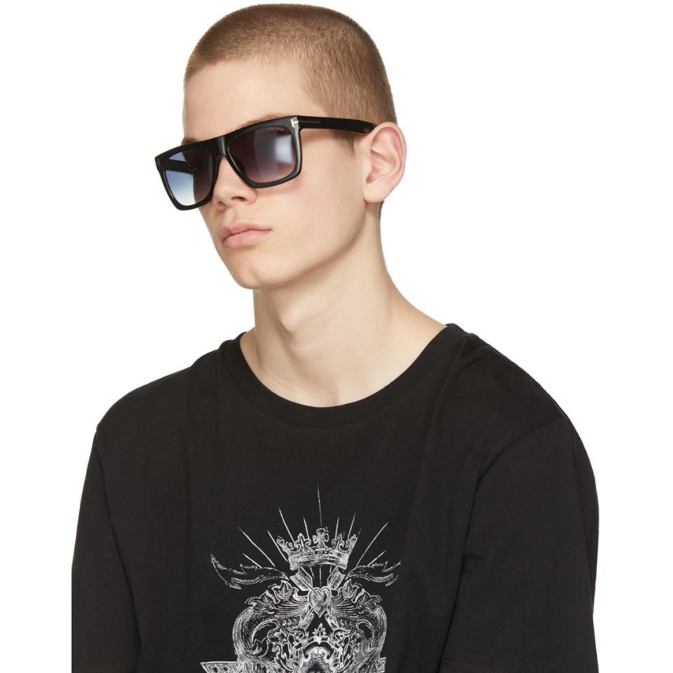 lyst tom ford black morgan sunglasses in black for men. Black Bedroom Furniture Sets. Home Design Ideas
