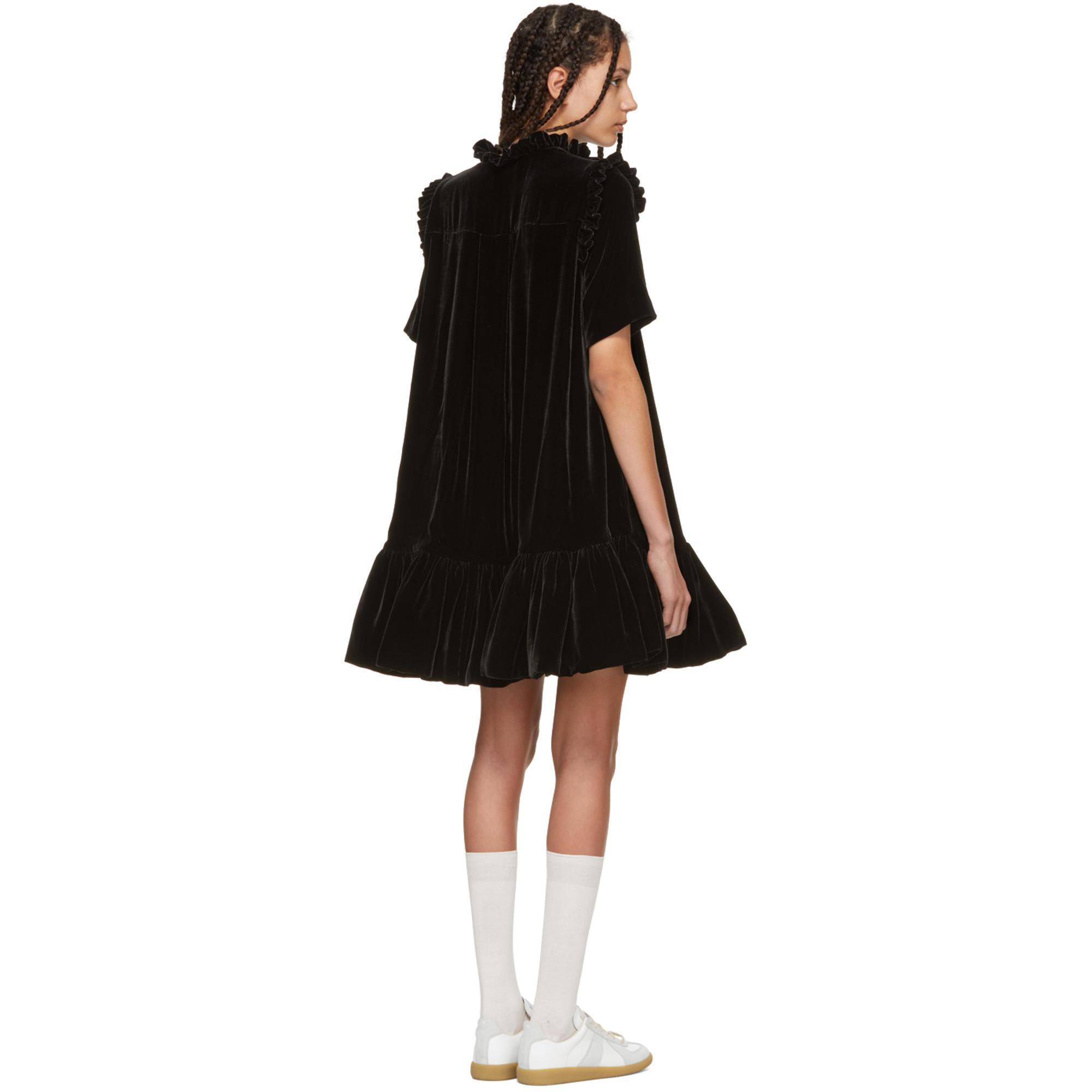 SSENSE Exclusive Black Velvet Natalia Dress Cecilie Bahnsen C0NGpg