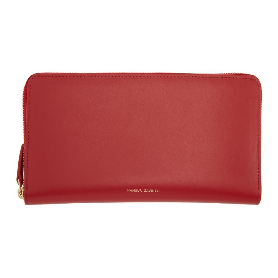 Red Continental Wallet Mansur Gavriel 1fxNJIlo