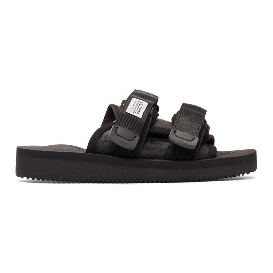 a3fc711d5372 Lyst - Suicoke Black Moto-cab Sandals in Black - Save 8%
