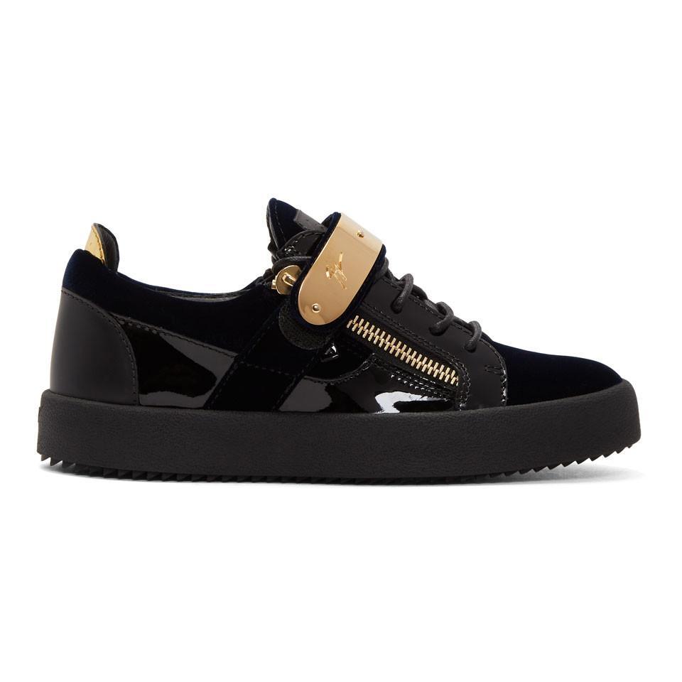 Navy and Black Velvet May London Sneakers Giuseppe Zanotti KoGwE5