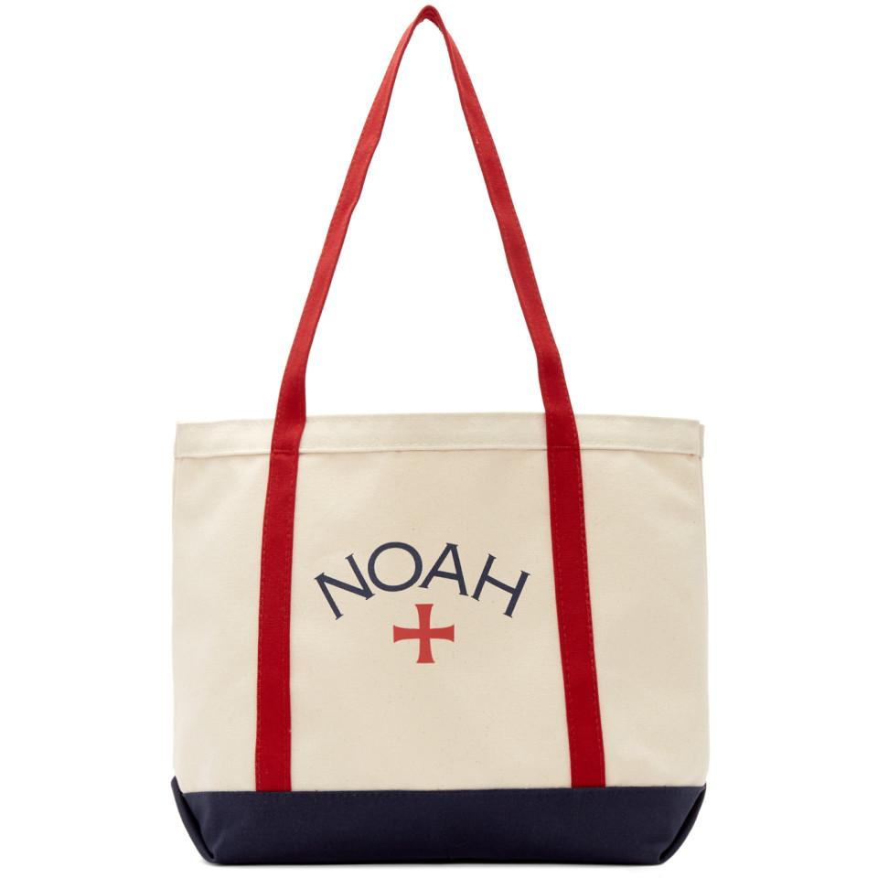 64e8774e Noah Red And Navy Logo Tote in Red for Men - Lyst